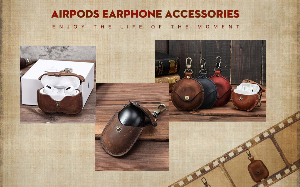 Wholesale Amp Custom Cute Airpods Pro Cases Vintage Leather